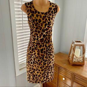 CALVIN KLEIN leopard print dress! Like NEW!!